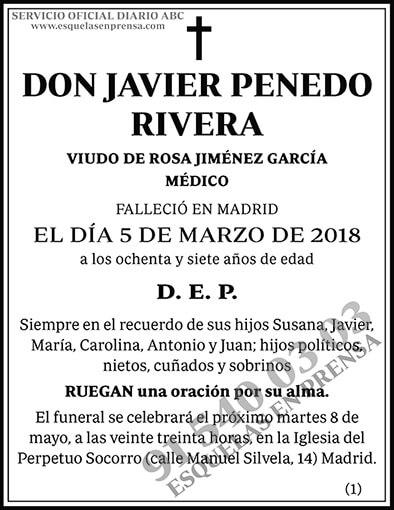 Javier Penedo Rivera
